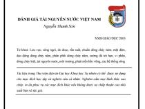 Giáo trình Đánh Giá Tài Nguyên Nước Việt Nam – Nguyễn Thanh Sơn