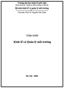 Giáo Trình Kinh Tế Và Quản Lý Môi Trường - Nguyễn Thế Chinh