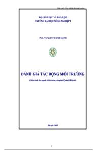 Giáo Trình Đánh Giá Tác Động Môi Trường_Nguyễn Đình Mạnh