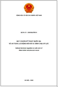 QCVN:01-2008/BLĐTBXH về an toàn lao động nồi hơi và bình chịu áp lực