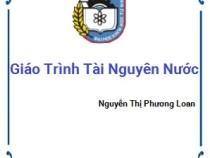 Giáo Trình Tài Nguyên Nước – Nguyễn Thị Phương Loan