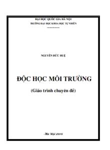 Giáo trình Độc Học Môi Trường - Nguyễn Đức Huệ