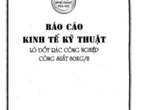 Báo Cáo Kinh Tế Kỹ thuật Lò Đốt Rác Công Nghiệp Công Suất 80kg/h