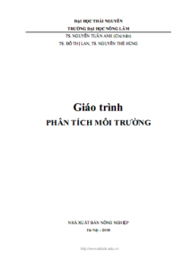 Giáo trình Phân Tích Môi Trường - TS. Nguyễn Tuấn Anh