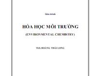 Giáo trình Hóa Học Môi Trường – Hoàng Thái Long
