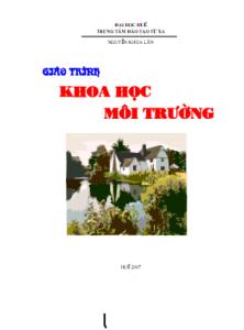 Giáo trình Khoa Học Môi Trường - Nguyễn Khoa Lân