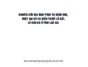 Nghiên Cứu Địa Mạo Phục Vụ Giảm Nhẹ, Thiệt Hại Do Tai Biến Trượt Lở Đất, Lũ Bùn Đá ở Tỉnh Lào Cai