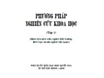 Phương pháp nghiên cứu khoa học tập 1 – GS.TSKH Lê Huy Bá