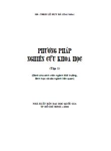 Phương pháp nghiên cứu khoa học tập 1 - GS.TSKH Lê Huy Bá