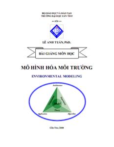 Bài giảng Mô Hình Hóa Môi Trường - PhD.Lê Anh Tuấn