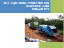 Quy Hoạch Quản Lý Chất Thải Rắn Huyện Hoài Nhơn Đến Năm 2025