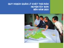 Quy Hoạch Quản Lý Chất Thải Rắn Huyện Tây Sơn Đến Năm 2025