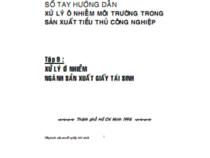 Sổ Tay Hướng Dẫn Xử Lý Ô Nhiễm Môi Trường Tập 9 – Nguyễn Trung Việt