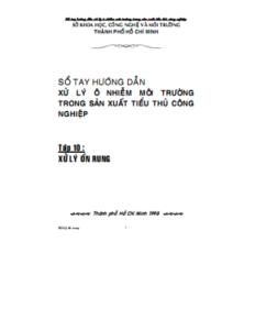 Sổ Tay Hướng Dẫn Xử Lý Ô Nhiễm Môi Trường Tập 10 - Nguyễn Đinh Tuấn