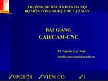 Bài giảng CAD/CAM-CNC – Nguyễn Huy Ninh