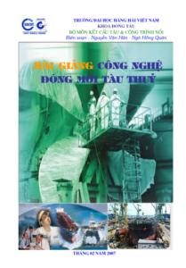 công nghệ đóng mới tàu thủy